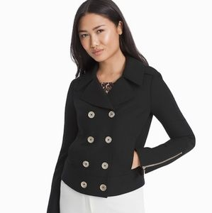 WHBM Double  Breasted Cropped Jacket